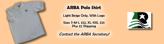ARBA Polo Shirts - $22 to $25 plus $2 shipping - beige with sylish ARBA Logo